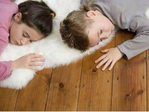 napping kids using a relaxed schedule